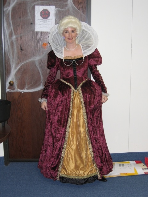 Me in my costume finery