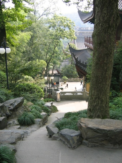 view from the temple