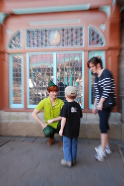 Evan meets Peter Pan