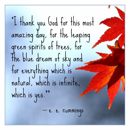 thanksgiving quote cummings