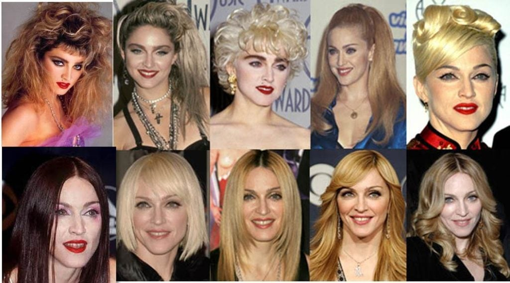 Madonna over the years