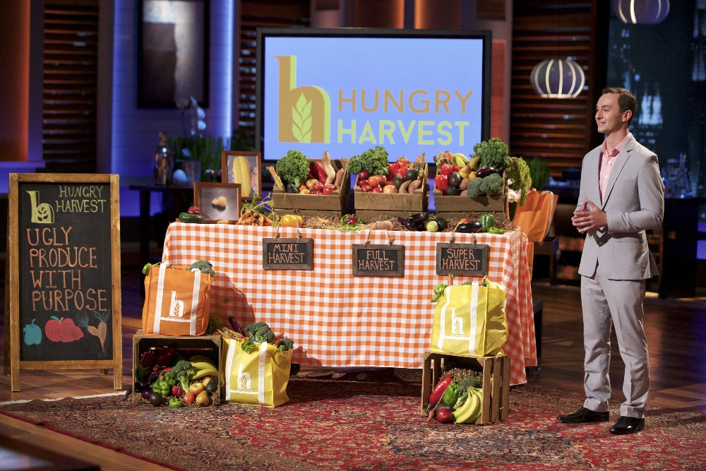 "SHARK TANK - ""Episode 715"" - Three friends from Oakland, CA try to sell the sharks on a breath freshener that has dual uses; a woman from Parker, CO seeks a huge valuation for a functional kid's placemat; and a 23-year-old Baltimore man wants to fight hunger and help the environment with his ""ugly"" produce subscription service -- will the sharks find it attractive? Plus, a follow up on the Houston-based founders of LuminAid, inflatable, solar-powered lights in which Mark Cuban invested during Season Six on ""Shark Tank,"" FRIDAY, JANUARY 8 (9:00-10:01 p.m. EST), on the ABC Television Network. (ABC/Tyler Golden) EVAN LUTZ (HUNGRY HARVEST)"