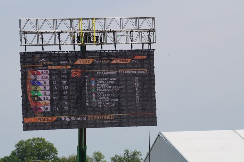 Scoreboard at Pimlico
