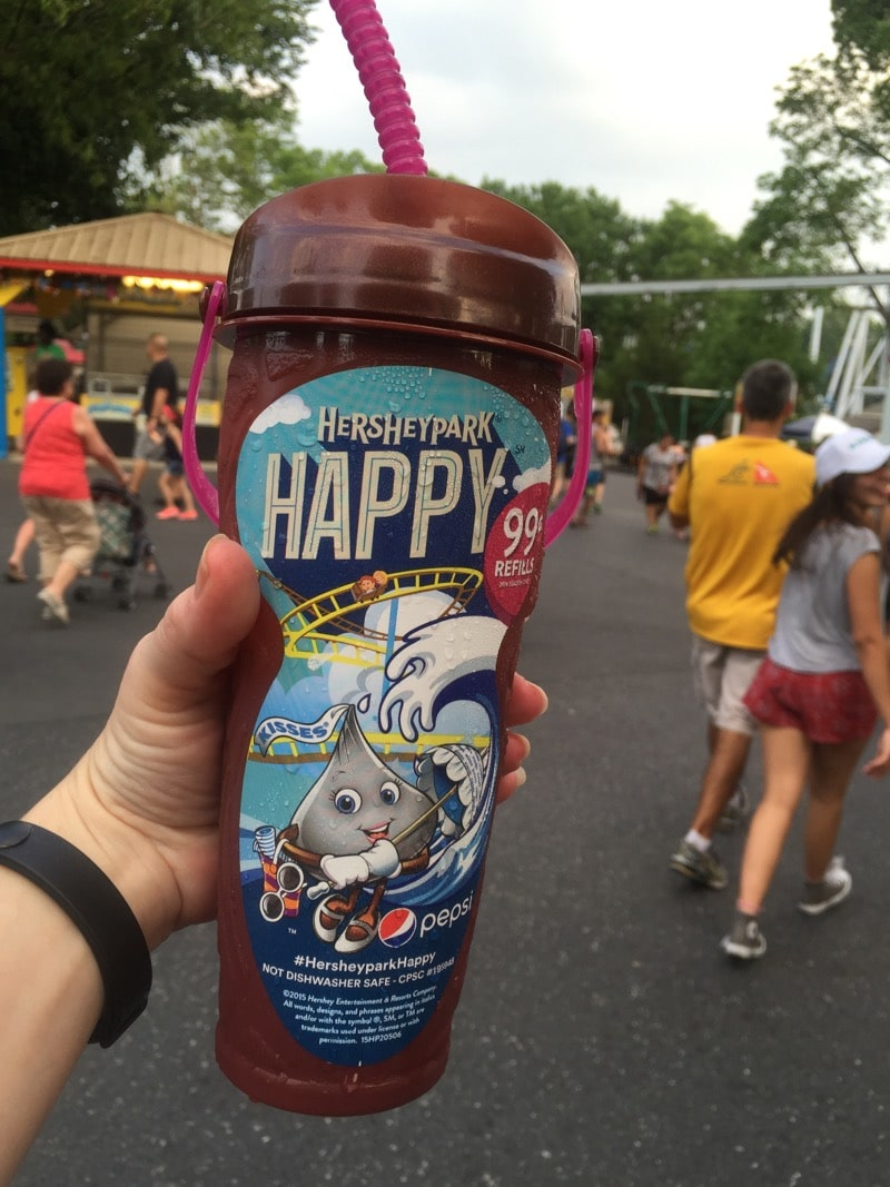 Hersheypark Happy refillable cup