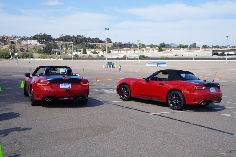 Autocross with the 2017 Fiat 124 Spider