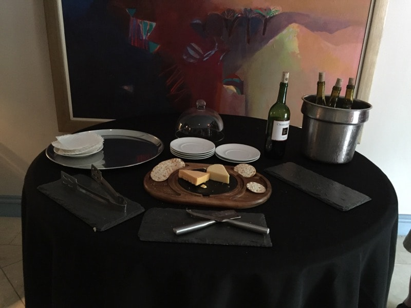 Wine & Cheese hour at the Normandy Hotel