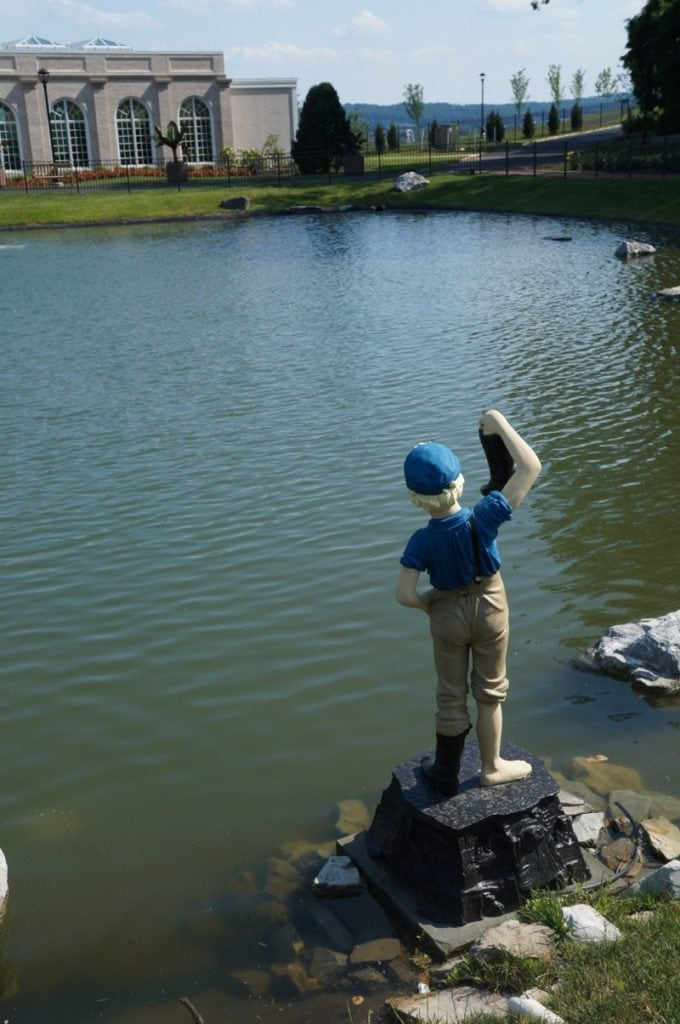 The Boy with the Leaking Boot statue at Hershey Gardens