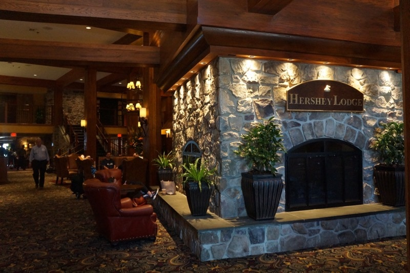 Hershey Lodge lobby