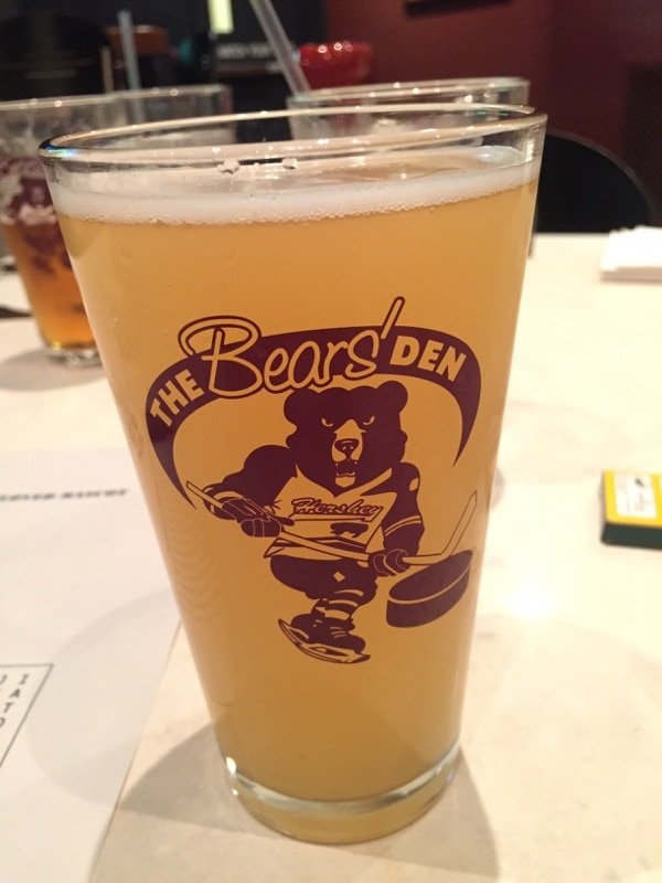 The Bear's Den draft beer