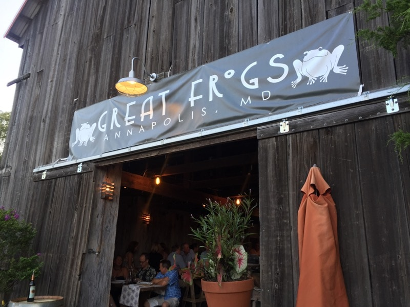 Great Frogs Winery in Annapolis, Maryland