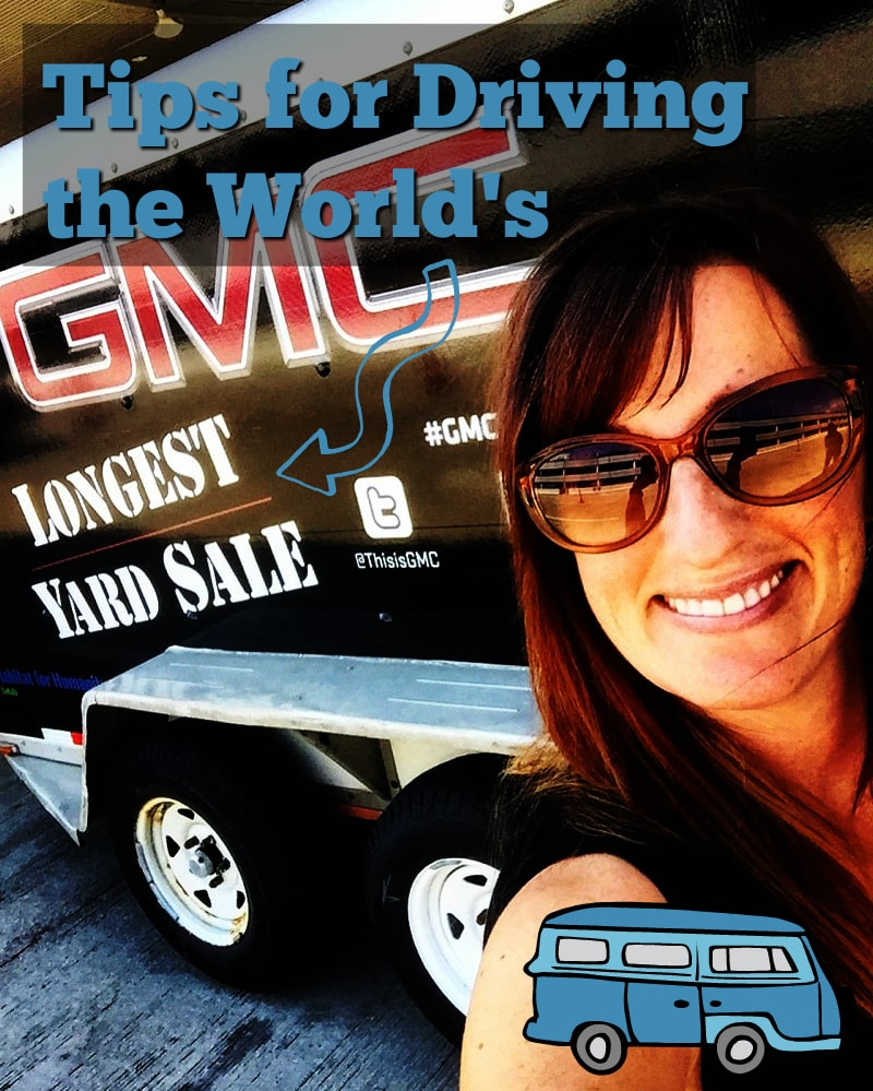 Tips for Driving the World's Longest Yard Sale