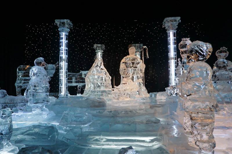 ICE! Crystal Nativity Scene