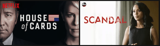 House of Cards and Scandal