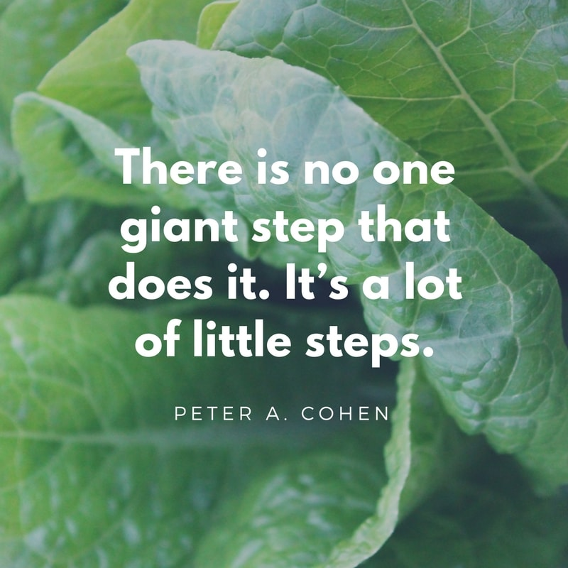 There is no one giant step that does it. It's a lot of little steps