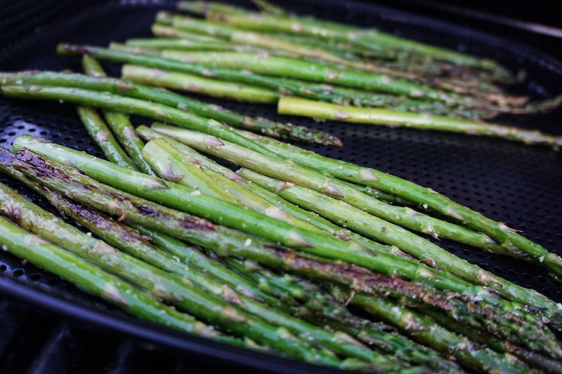 Perfectly grilled asparagus