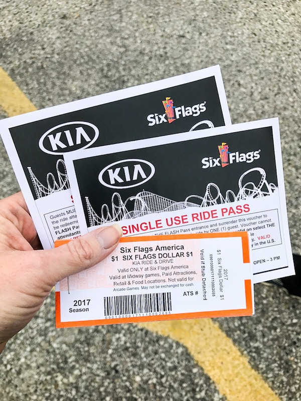 Six Flags incentives for the Kia Ride and Drive