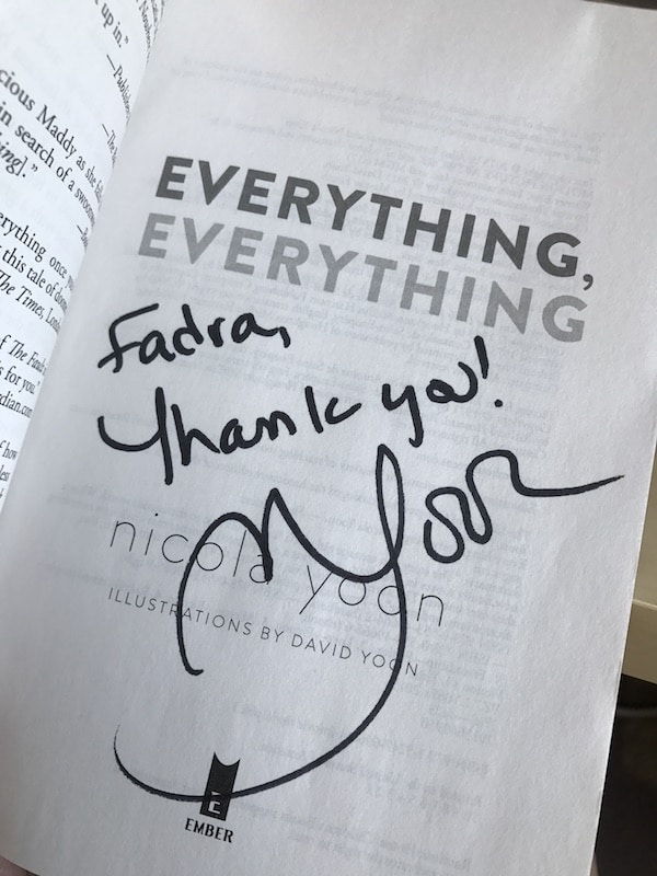 Everything Everything signed book