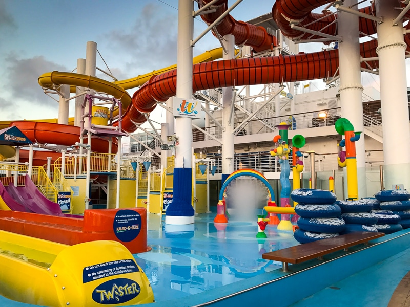Water slides - Carnival Vista