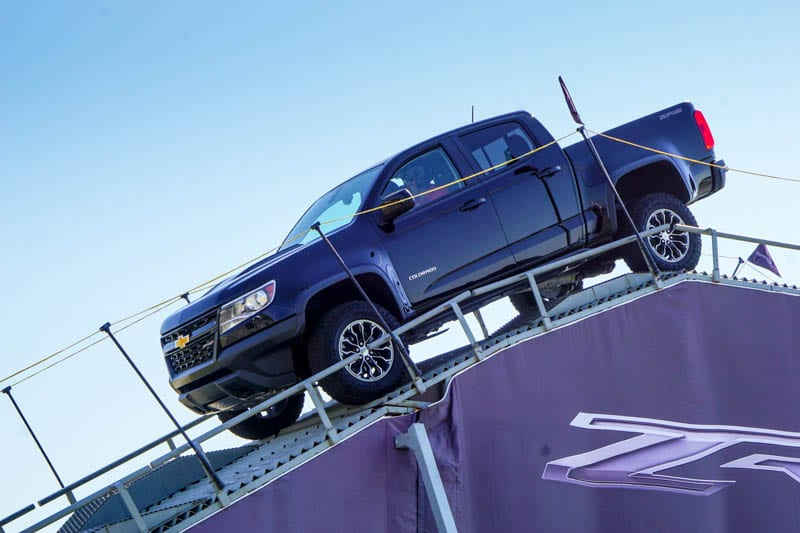 Chevy Colorado downhill ascent