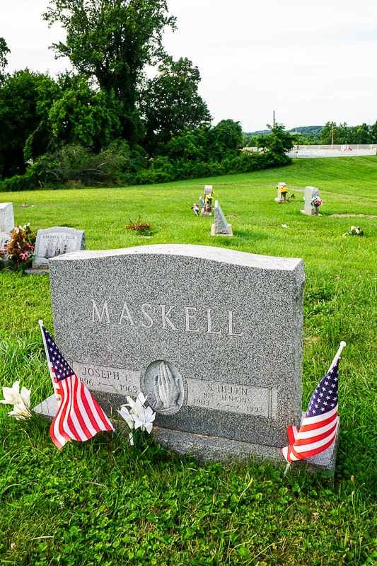 Maskell headstone - The Keepers