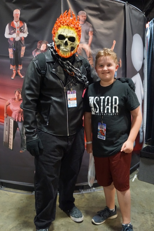 Evan and Ghost Rider at AwesomeCon