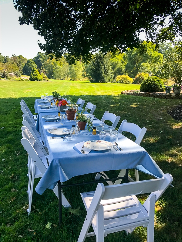 Beech Springs Farm outdoor seating