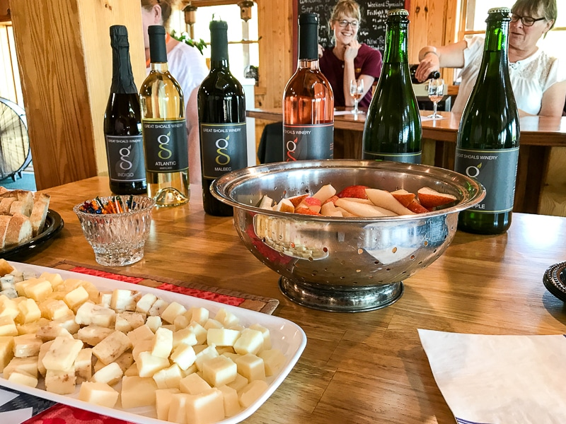 Boyer Orchard wine tasting