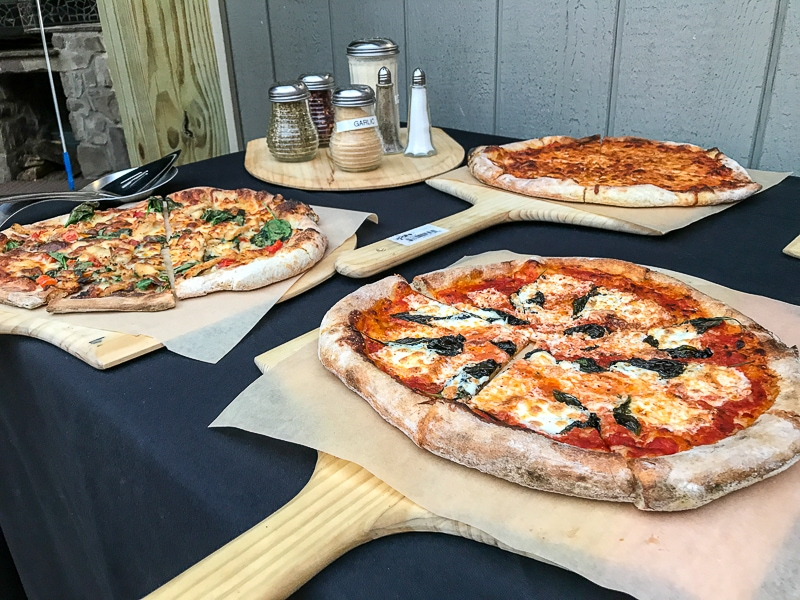 Brick oven pizza at Adams County WInery