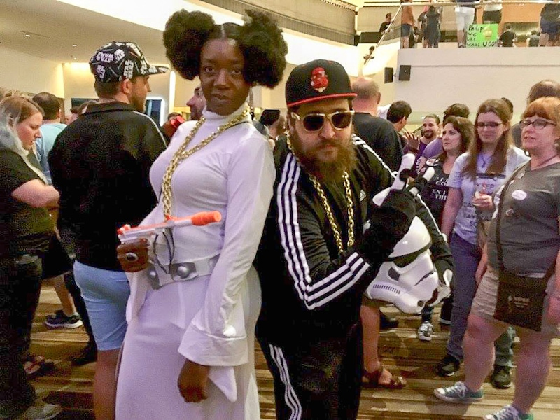 Hip hop leia and stormtrooper costume
