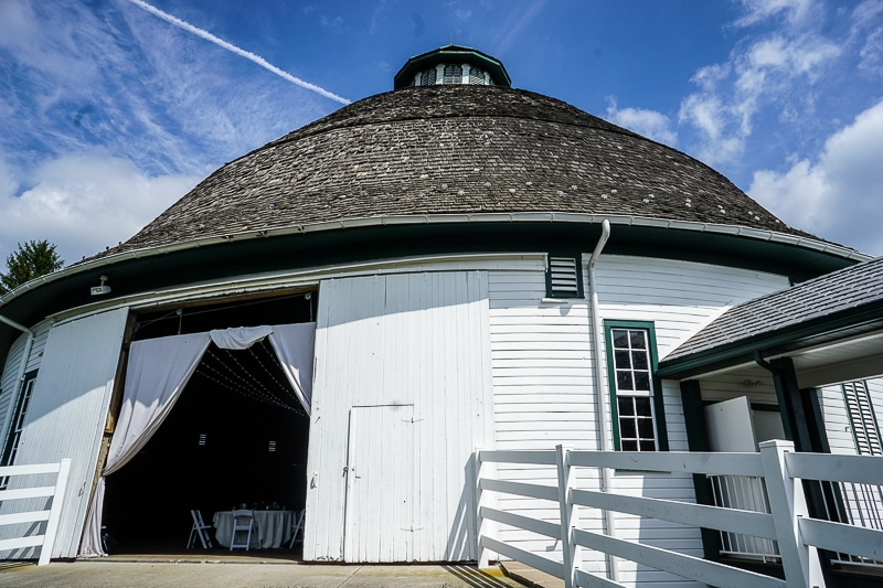 Historic round barn - outside