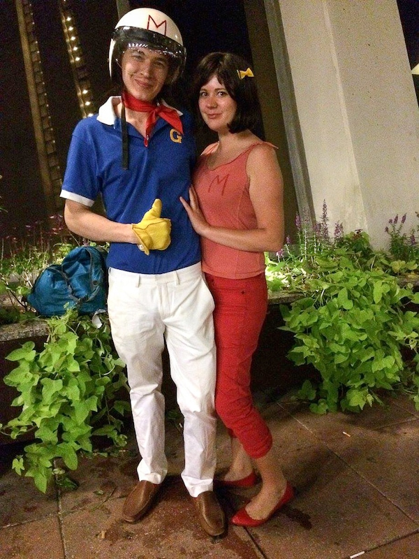 Speed Racer and Trixie costumes