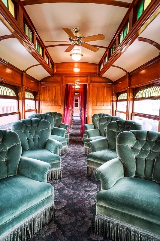 The first class lounge car - Strasburg Railroad