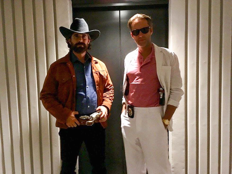 Walker texas Ranger and Miami Vice costumes