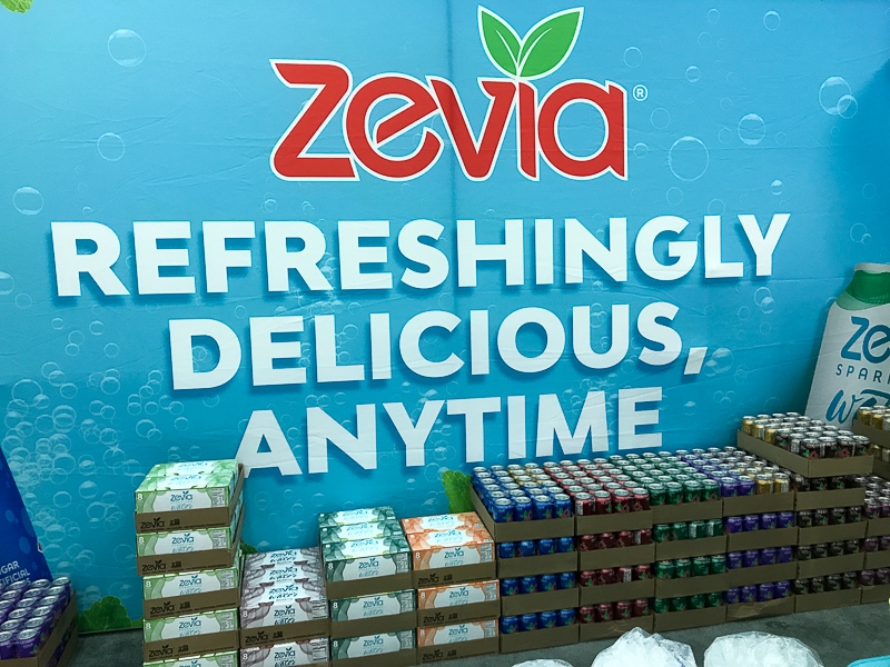 Zevia soft drinks