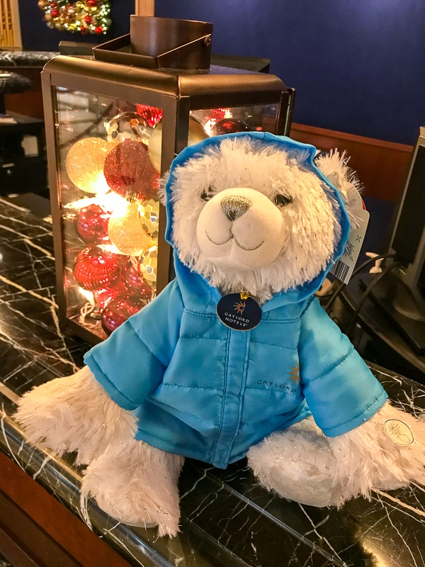 Build a Bear with blue parka