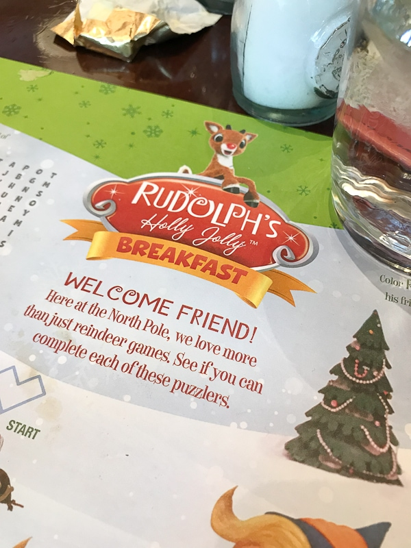 Rudolph's Holly Jolly breakfast