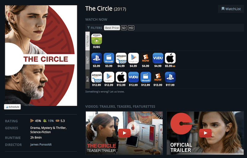 The Circle - streaming options on JustWatch
