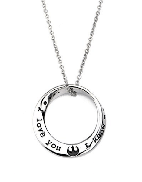 I love you I know necklace - Star Wars