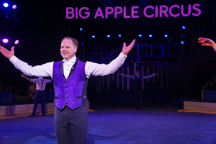 Nik Wallenda on the high wire at Big Apple Circus