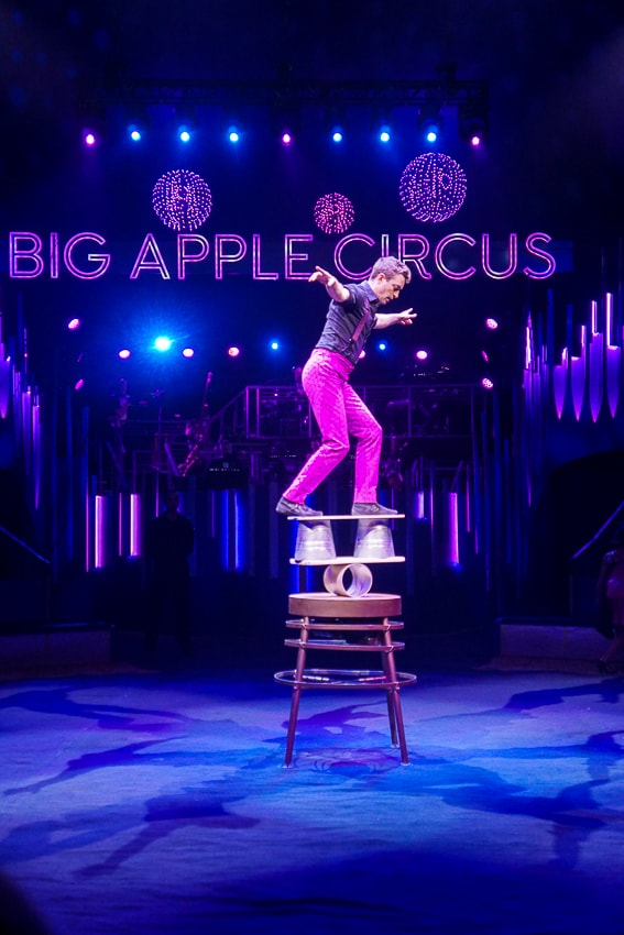 Balacing Act at the Big Apple Circus