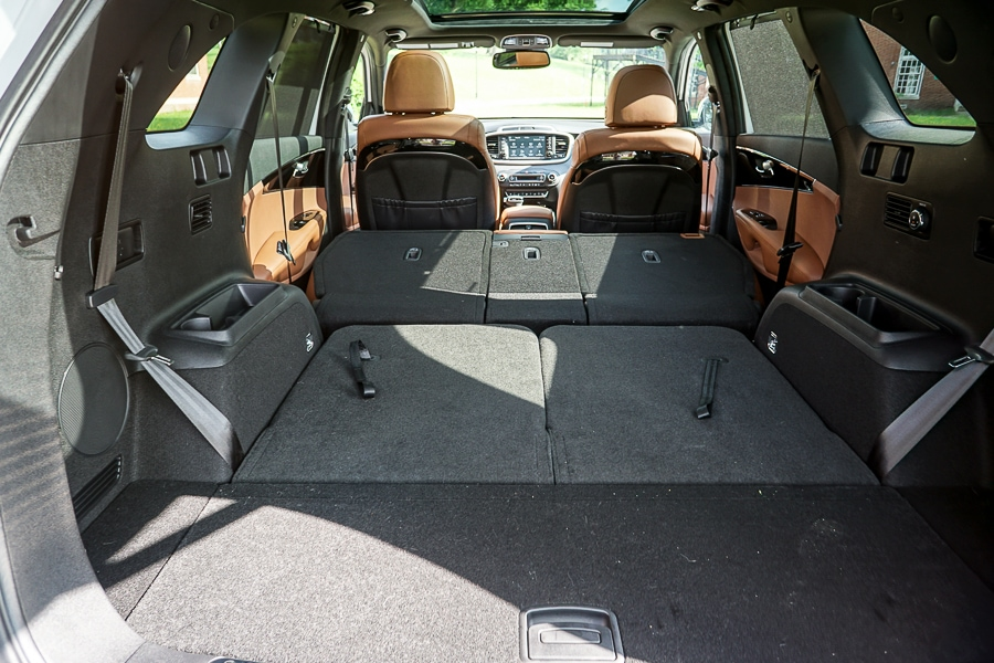 Cargo space in 2019 Kia Sorento