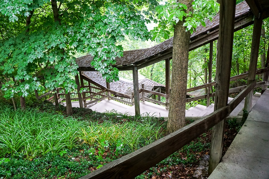 Staircase down to Indian Echo Caverns