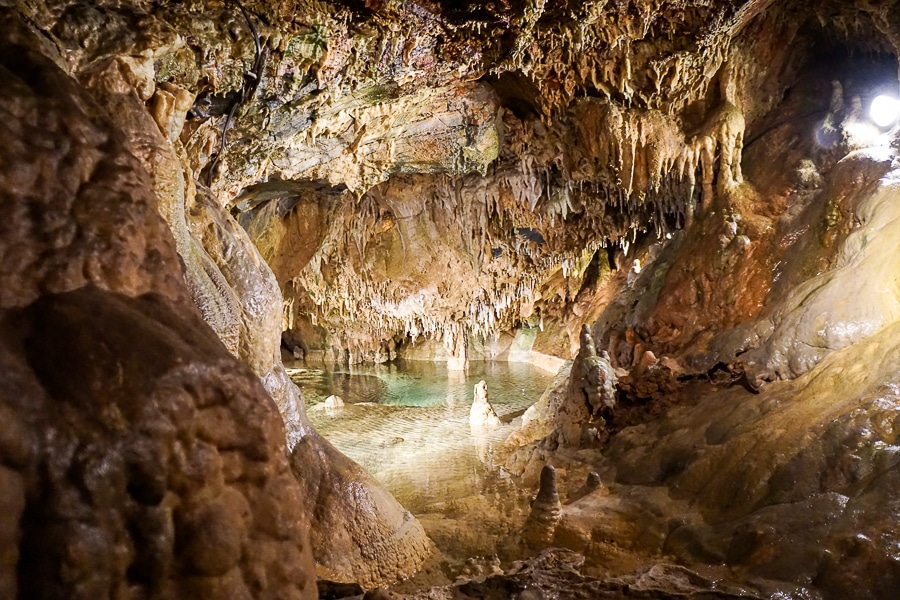 Inside Indian Echo Caverns