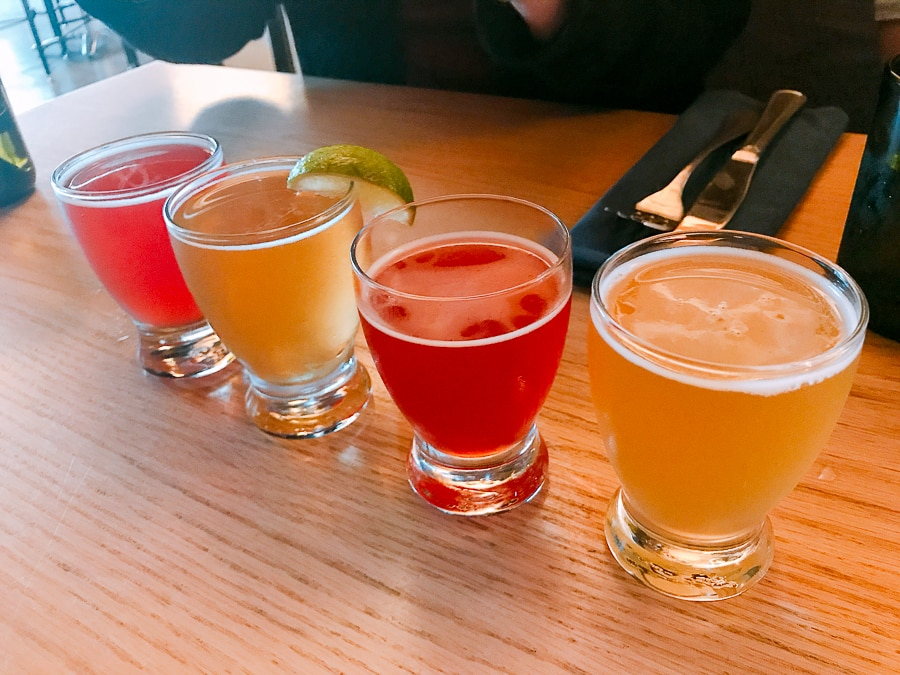 Beer flight at The Millworks