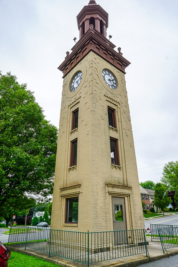 Clock tower at National Watch & Clock Museum