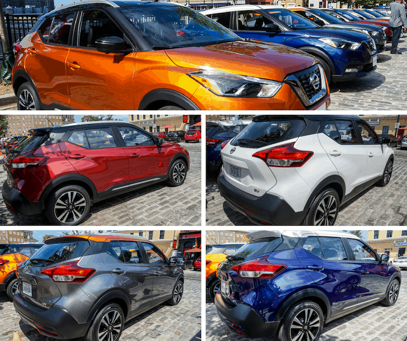 Nissan Kicks color choices
