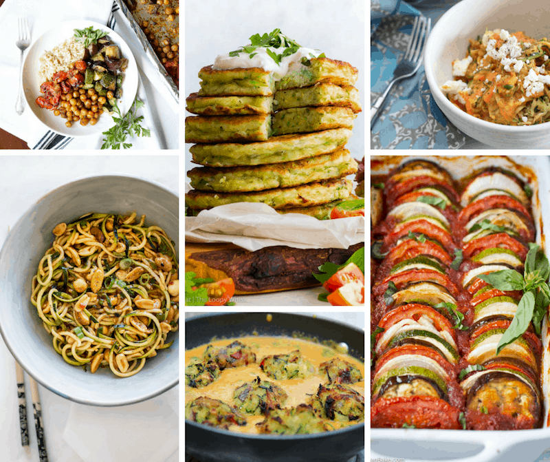 Zucchini meatless main dishes