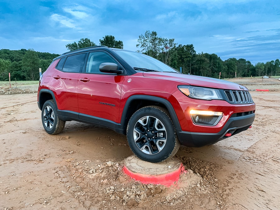 Suburban offroading in the Jeep Compass