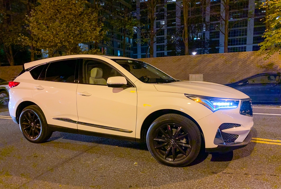 Acura RDX at night