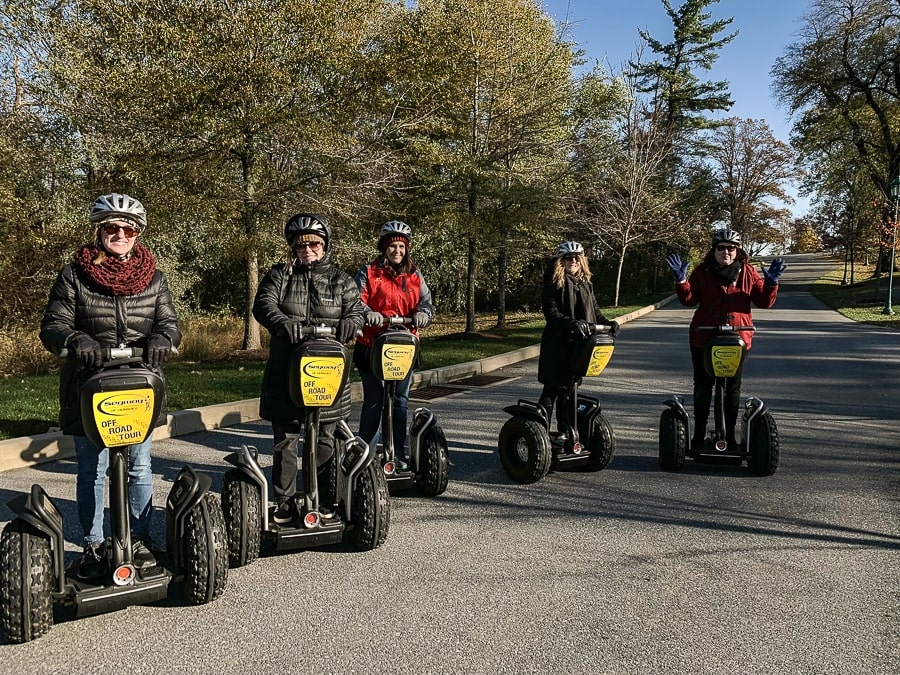 We thought we looked like a serious girl gang on those Segways
